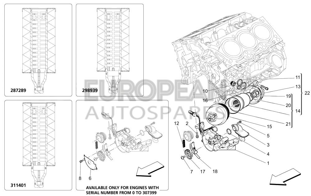 Maserati Oil Filter Cartridge 311401 Part Online for Dubai